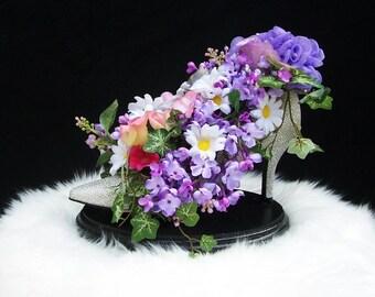 Shoe Flower Arrangement  High Heel Shoe Centerpiece Bridal Shower