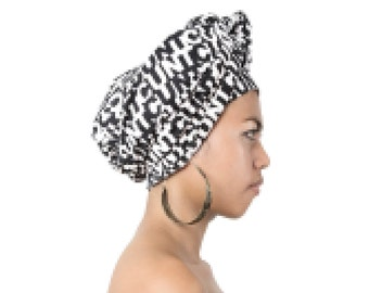 C*nt Print - C*nt Sarong - Yoga Mat - Beach Towel - Head Wrap - Black and White Sarong