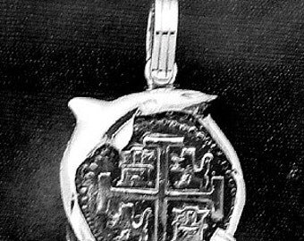Spanish 4 Reale  Pendant  Sterling Silver Free Domestic Domestic Shipping