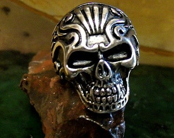 Skull Ring in Sterling Silver Free Domestic Shipping