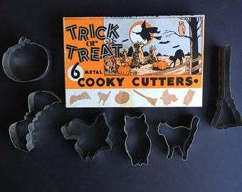 Halloween Cookie Cutters Vintage Bakeware Original Box Top