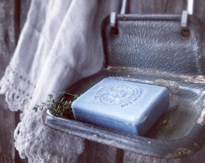 Antique Enamel Soapdish Soap Holder White Enamel
