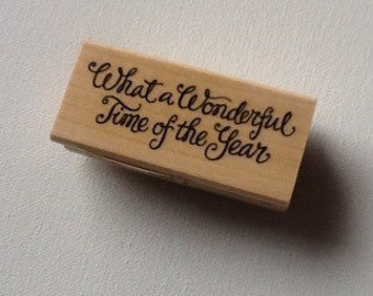 What a Wonderful Time of the Year // Rubber Stamp // Inkadinkado