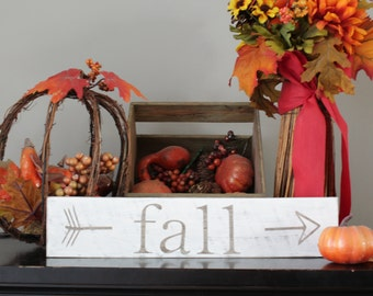 Fall Sign, Fall arrow, fall decor, fall pallet sign, White fall sign, rustic fall sign, distressed fall sign