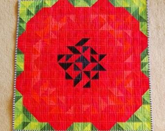 The Alternate Ending Flower or Poppy Baby or Wall Quilt Pattern