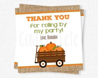 Fall Favor Tags, Pumpkin Tags, Pumpkin Party Favors, Pumpkin Wagon Tag, Pumpkin Birthday, Personalized