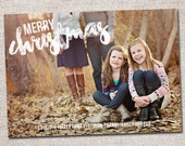 "Christmas card, Photo Christmas card, Holiday Card, Printable Christmas card, Modern Christmas card (""Merry Christmas"")"