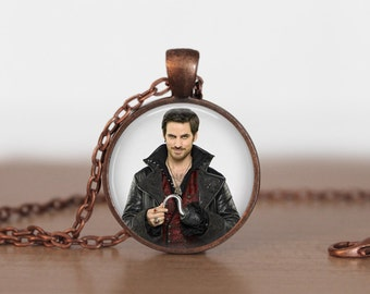 Once Upon A Time Necklace Pendant Captian Hook Pendant
