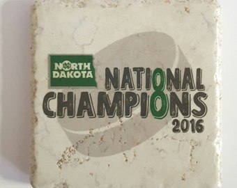 UND Hockey National Champion - University of North Dakota Coasters 8th Championship