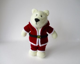 Polar Bear toy knitting pattern