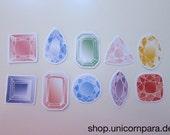 Jewels & Gems Sticker Set