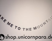"""Black, Pewter, Smoke, Silver & White """"Take Me To The Mountains"""" Gradient Mini Glitter Banner, One of a Kind"""