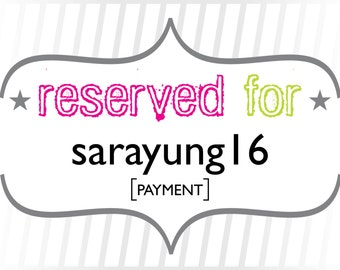 sarayung16: Payment for Custom Modern Typography Wedding Invitations