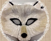 Ghost direwolf, ghost mask, White Wolf Mask, direwolf mask, albino wolf, albino direwolf, direwolf mask, jon snow, GoT costume, wolf costume