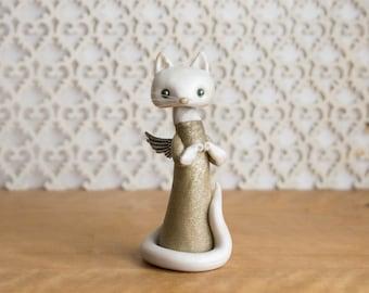 Cat Angel Sculpture by Bonjour Poupette