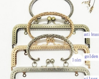 8 inch(20.5cm)clutch frame sewing metal purse frame with handle purse making supplies 3 color