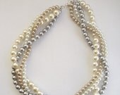 custom order pearl necklace, bracelet and earrings for Amanda Wilson