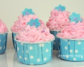 Tahiti Sweetie Tropical Whipped Soap Bath Bomb Cupcake Fizzy
