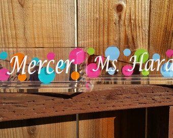 Name plate,teachers gift,teachers name plate,Christmas gift,personalized,home office,desk name plate, back to school,teachers gift,acrylic