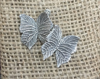 Butterfly earrings, silver butterflies