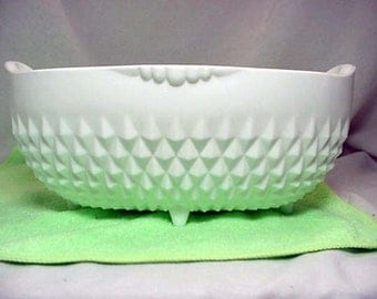 White Milk Glass Footed Oval Planter Home and Garden Lawn and Garden Gardening Pots and Planters