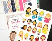 Cute Princess Planner Stickers - 2 Sheets
