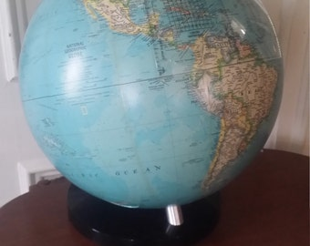 Vintage Globe National  Geographic   / Lucite Stand
