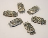 Vintage marcasite necklace clasps.  Lot of clasps. 6 clasps