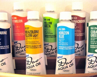 Duo Aqua Oil Paint by Holbein - Water soluble oil paint - Multiple Colors - Color Names in alphabetical order A-Q