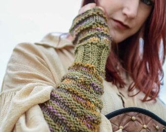 Hand Knit Fingerless Hand and Arm Warmers