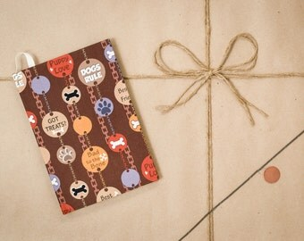 Got treats?, colorful, brown, Agility journal, hard cover, handmade, speciality notebook