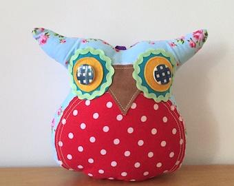 Blue Mr Owl Plush Doll