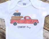 NEW Country Boy Onesies®, Baby Boy Onesie, Country Baby Clothes, Graphic Bodysuit, Baby Singlet, Retro Baby, Onesies, Truck Onesie, Onesies®
