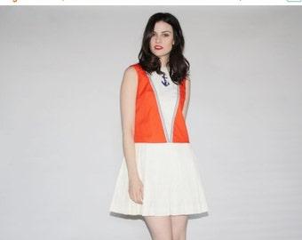 70% Off FINAL SALE - 1960s Sailor Dress  - Mod 60s Dresses  - Vintage 60s Dress   - WD0329
