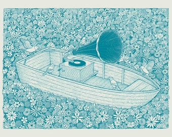 Flower Boat silkscreen