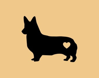 NEW! Vinyl Decal, CORGI DECAL, MacBook decal, Laptop Decal, Computer Decal, Die Cut Decal