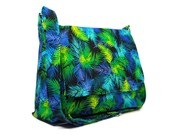 Colorful Purse, Women's Messenger Bag, Fabric Crossbody Bag, Cotton Cross Body Bag, Jewel Tone Pocketbook, Fabric Purse, Cloth Handbag