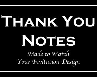 Thank You Cards for Bar and Bat Mitzvah Invitation Orders - Made to Match Any Design in our Store