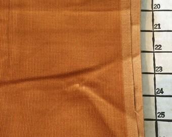 "Corduroy Golden Brown Cotton Fabric 2 Yards X 44"" Wide #3891"