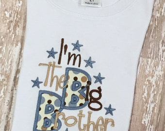 I'm The Big Brother Little Brother Applique Shirt