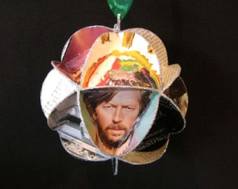 Eric Clapton Album Cover Ornament Made From Repurposed Record Jackets