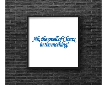 Neat Freak - Full House Danny Tanner Housewarming gift funny poster, tv quote, clorox, typography tv sitcom television show fan art blue