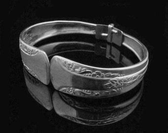 Spoon Bracelets, Handmade Silver Bracelets, Silverware Bracelets, Camila MEDIUM fits 6-7 inch wrist
