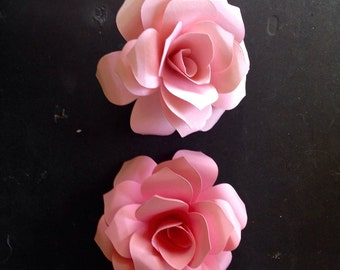 Paper Flower Roses  3 inch Escort cards embelllishments Any COlor  or colors