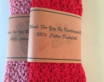 Crochet Tag Label -  Dishcloth, Washcloth