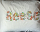 Personalized Pillow case - custom name sleepover slumber party gift idea birthday girls  boys bedding kids