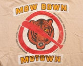 1984 World Series Mow Down Motown T-Shirt, San Diego Padres, Vintage 80s