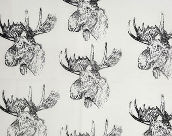MOOSE Fabric Hot Diggity Dog Fabrics  Novelty Fabric 1 yd