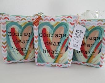 """HE.art by CC """"Courage Dear Heart"""" Zippered Pouch"""