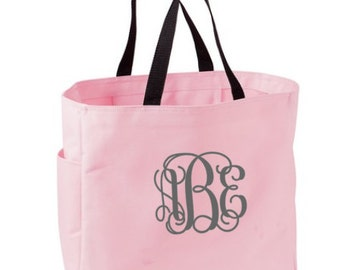 Monogram Bridesmaid Tote - Monogrammed Tote bag -